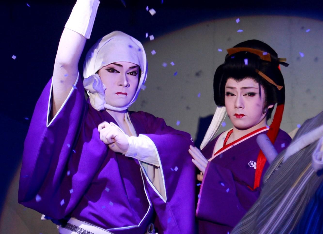 相舞踊「梅川忠兵衛」のご両人(左:海斗・右:雷三)