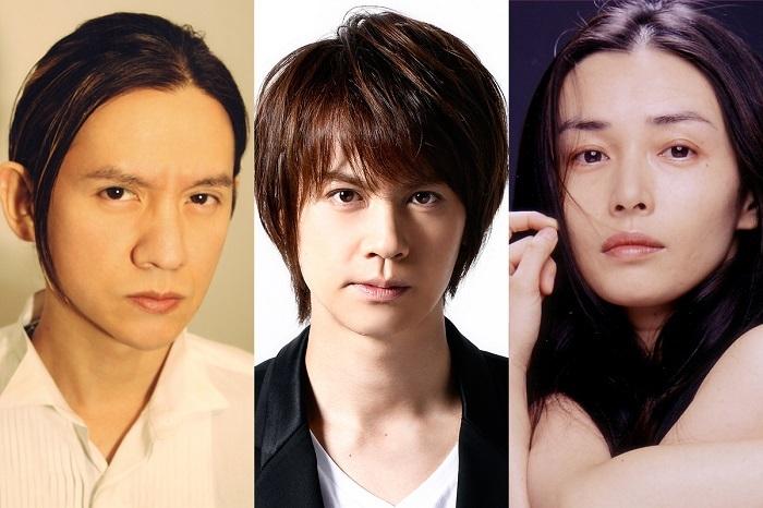 演劇『リチャード二世』(左から)岡本健一、浦井健治、中嶋朋子