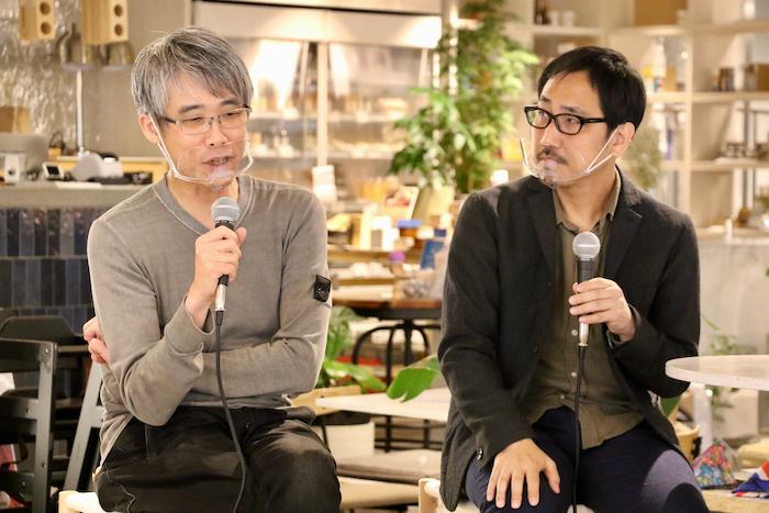 (左から)演出家 板垣恭一、プロデューサー 宋元燮