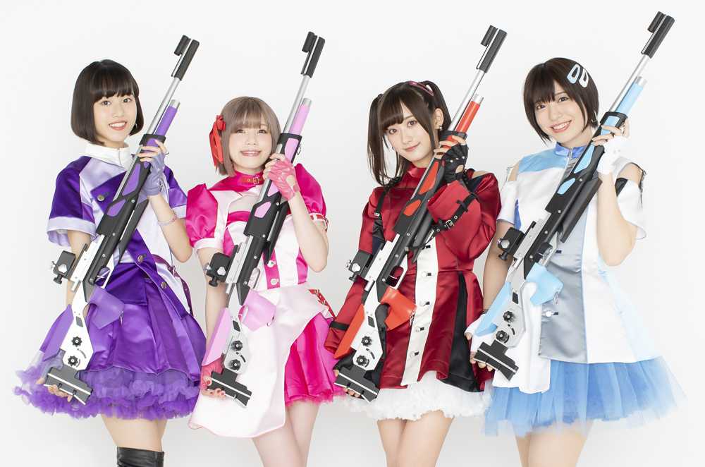 インディーズアイドルユニット「ライフリング4」※左から、熊田茜音、Machico、南 早紀、八巻アンナ