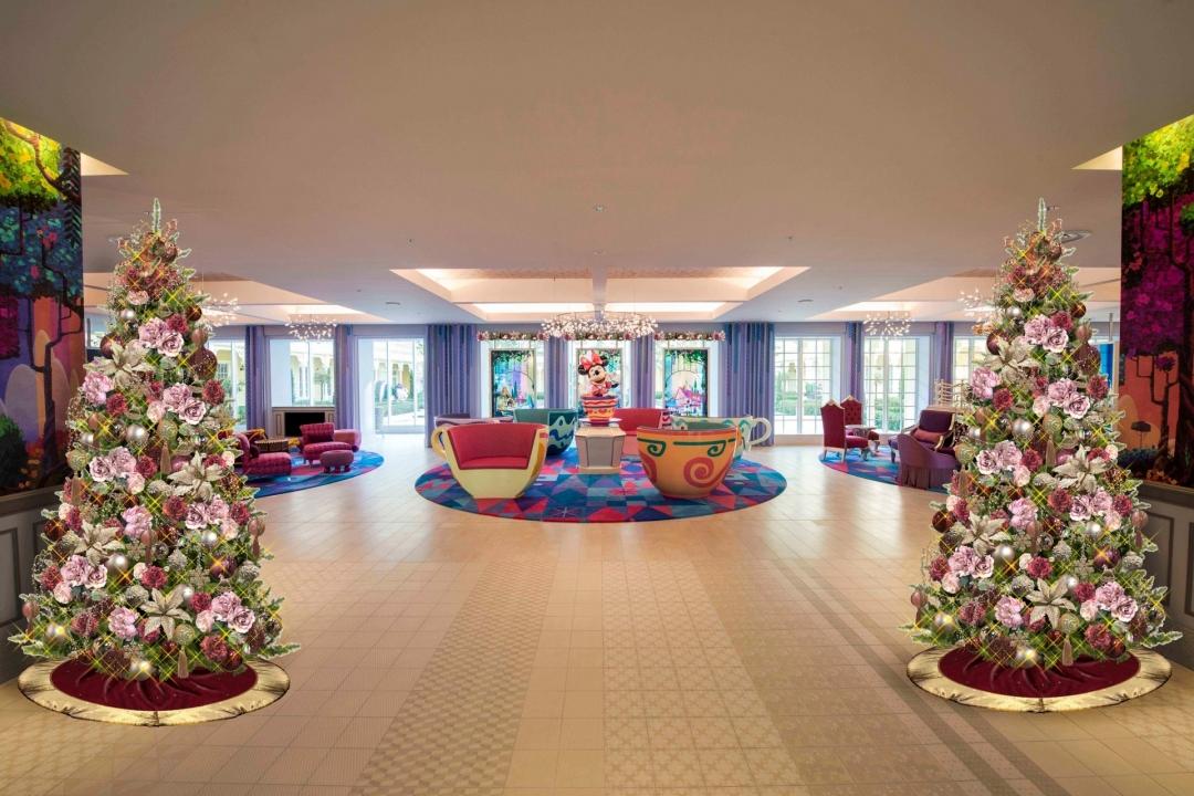 東京ディズニーセレブレーションホテル:ウィッシュ クリスマスデコレーション ※イメージ (C)Disney