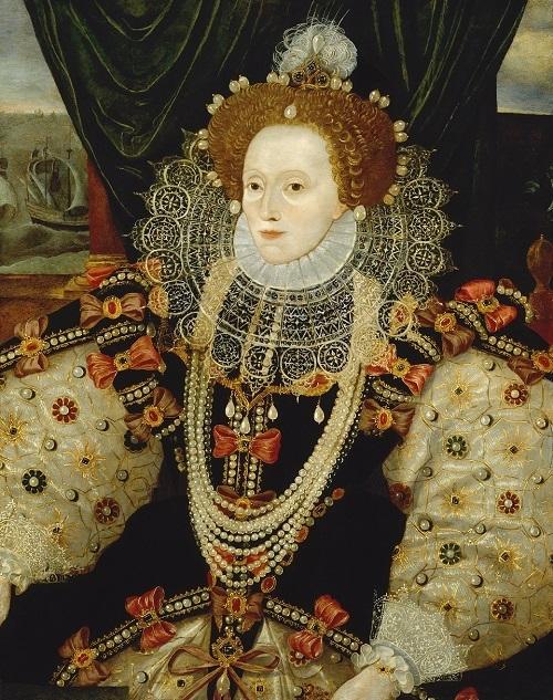 《エリザベス1世》1588年頃、作者不詳 Queen Elizabeth I by Unknown English artist (ca. 1588) (C)National Portrait Gallery