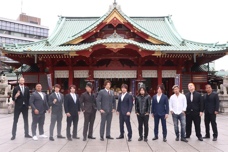 『D王 GRAND PRIX 2020』に参戦する選手が神田明神で記者会見を行った