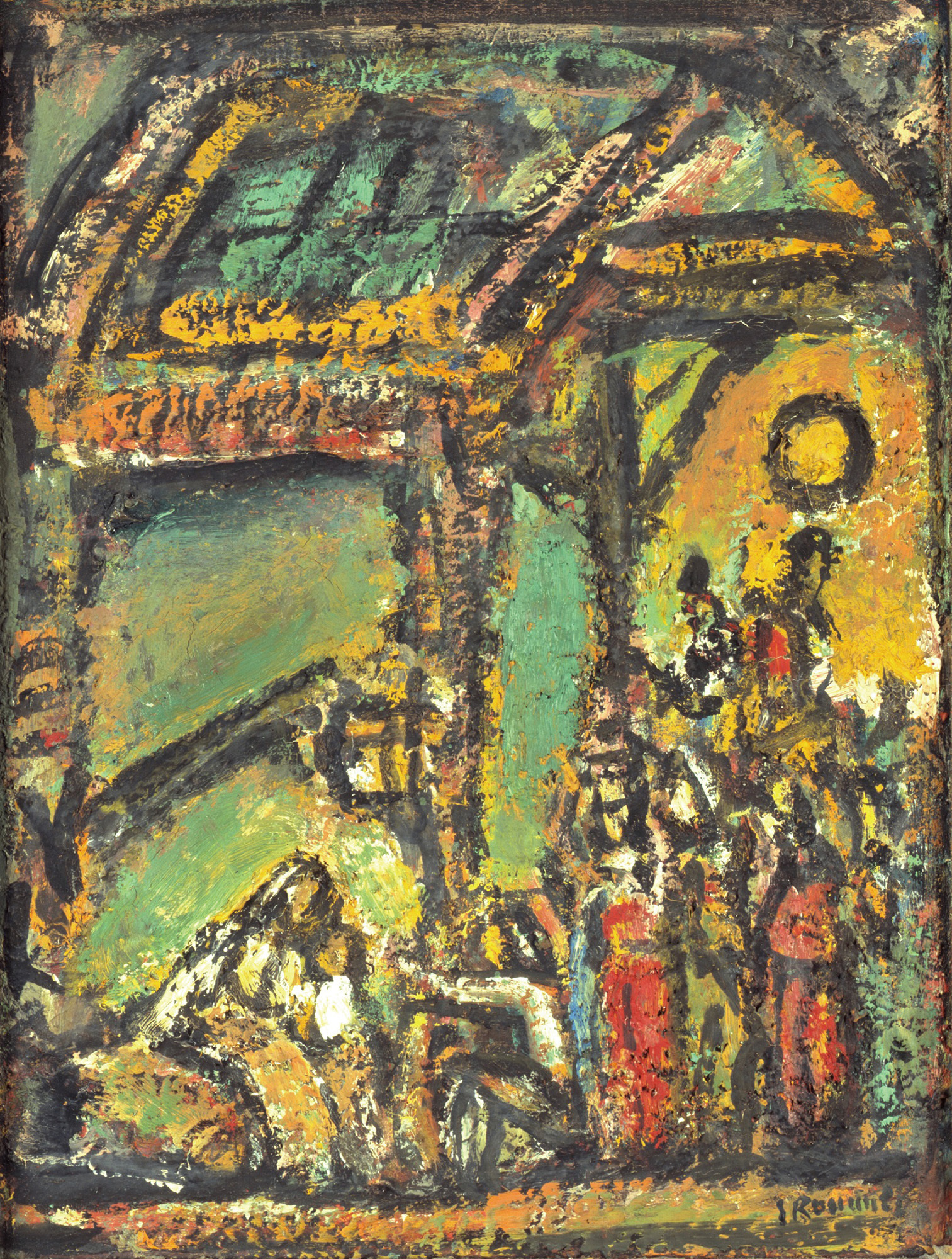ジョルジュ・ルオー《降誕》1953年頃 ジョルジュ・ルオー財団蔵