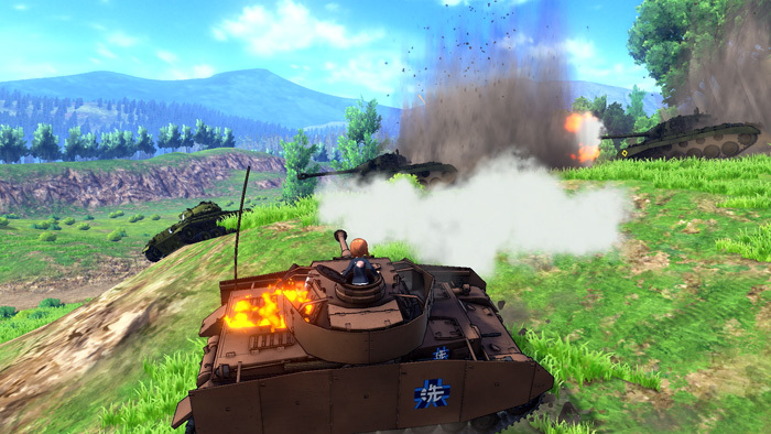 『ガールズ&パンツァー ドリームタンクマッチ』PVより ©GIRLS und PANZER Projekt ©GIRLS und PANZER Film Projekt ©BANDAI NAMCO Entertainment Inc.