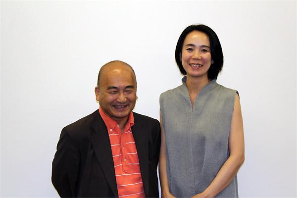 広上淳一(左)と河瀨直美(右)
