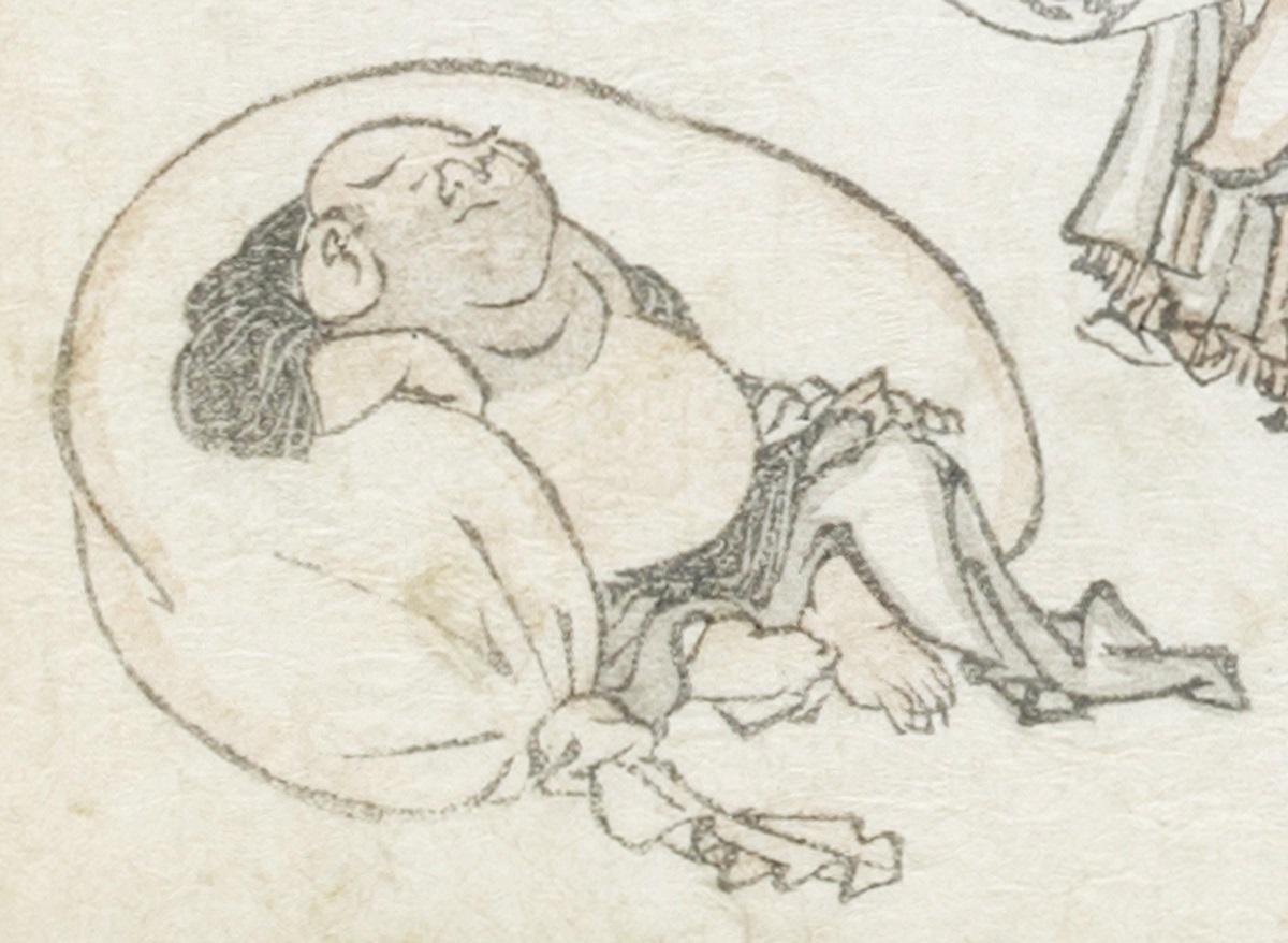 葛飾北斎『北斎漫画』初編(部分)文化11(1814)年 浦上蒼穹堂