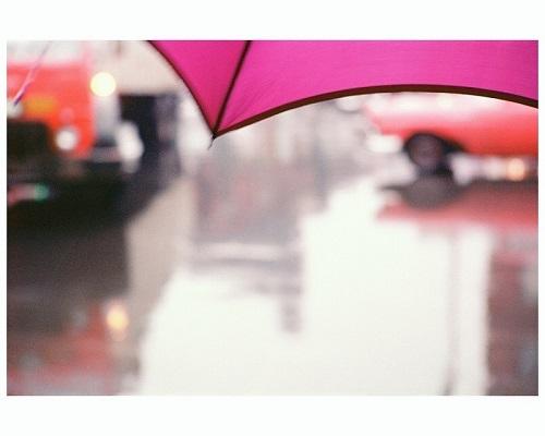 ソール・ライター 《薄紅色の傘》1950年代、発色現像方式印画 (C)Saul Leiter Foundation