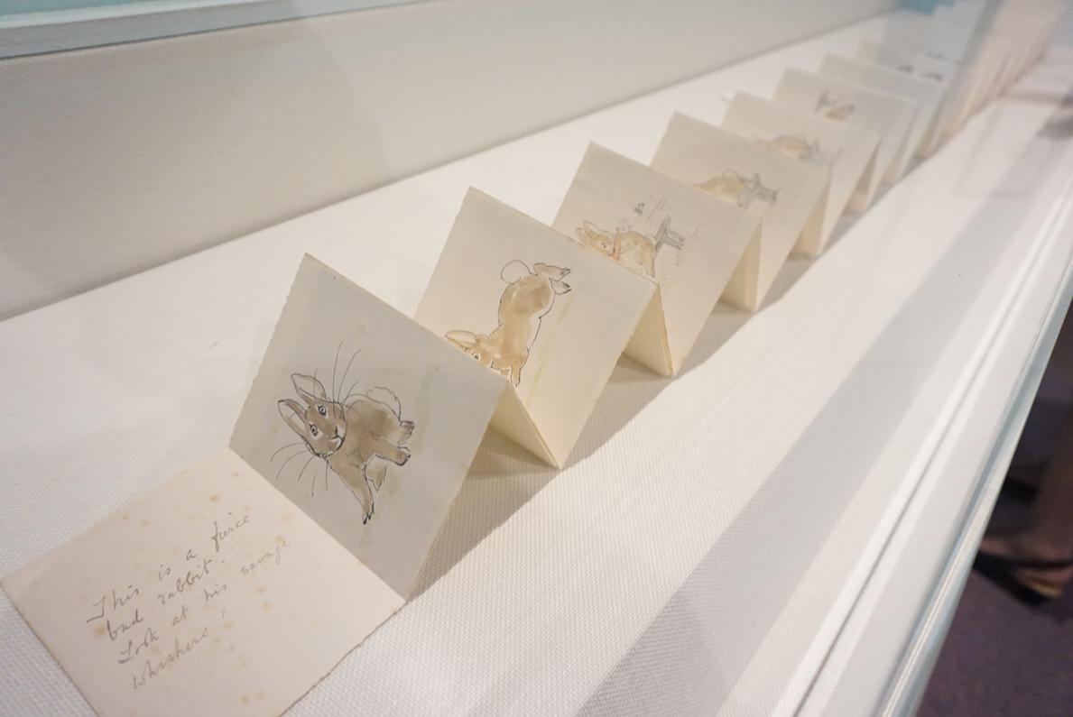 ビアトリクス・ポター『こわいわるいうさぎのおはなし』草稿 英国ナショナル・トラスト所蔵