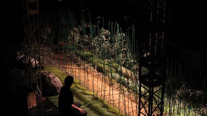 モダンスイマーズが創る人形劇ムービー『しがらみ紋次郎〜恋する荒野路編〜』制作風景より