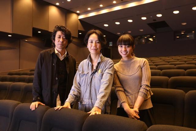 左から、永瀬正敏、河瀨直美、水崎綾女