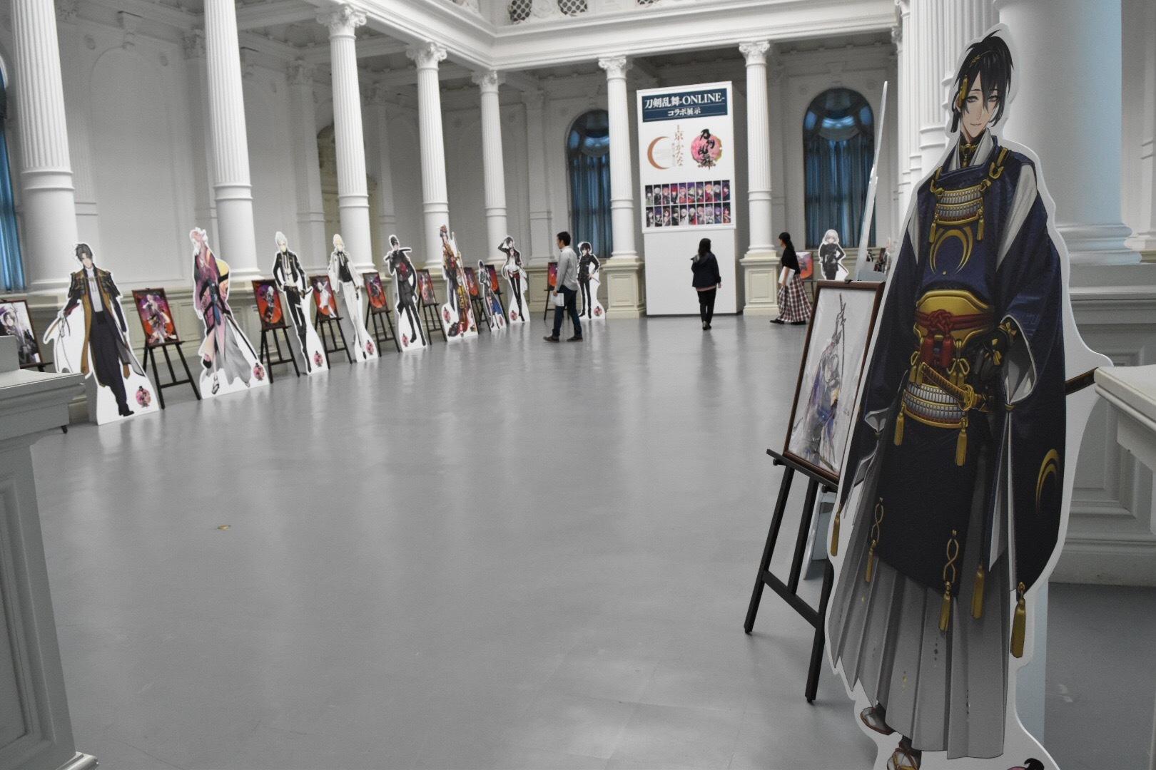 「刀剣乱舞-ONLINE-」コラボ刀剣男士の等身大パネル 展示風景
