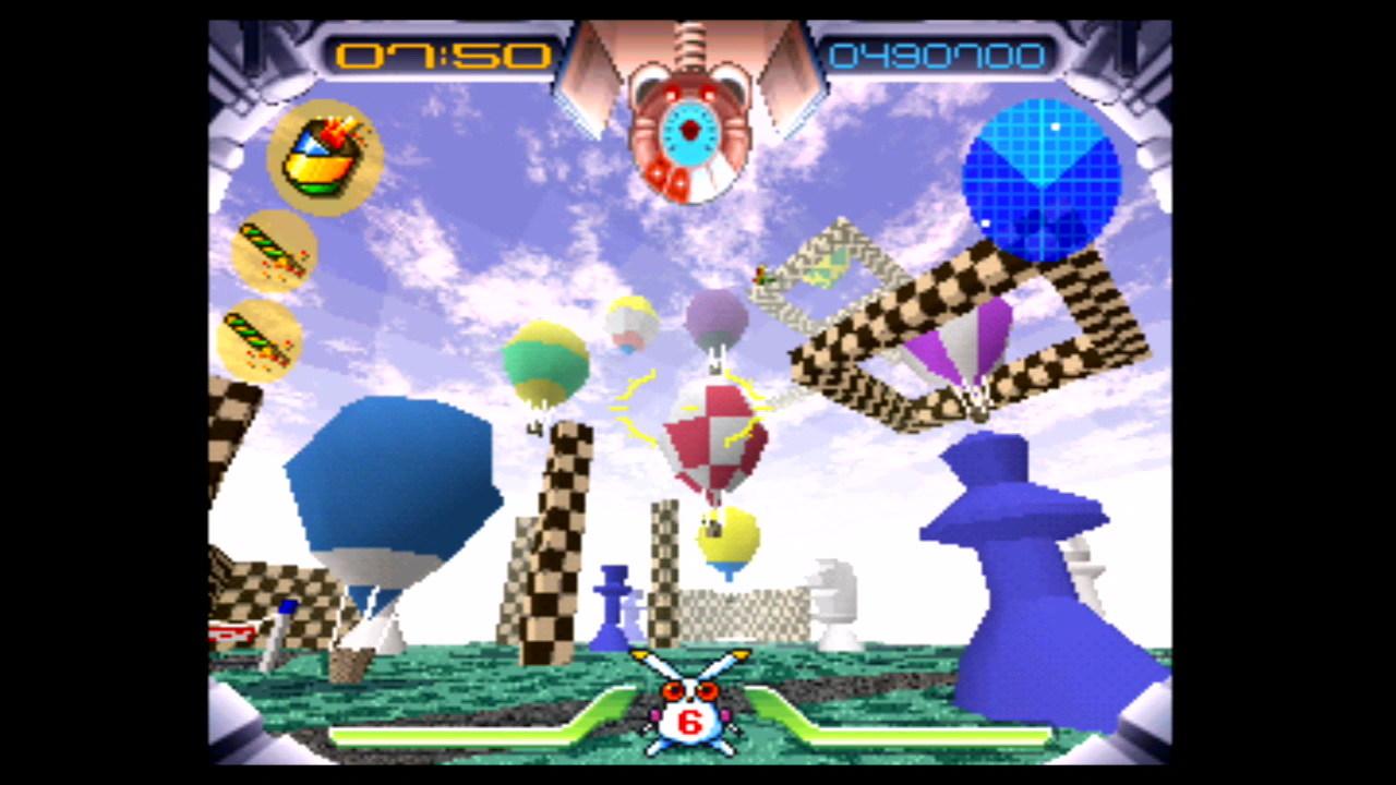 『JumpingFlash! アロハ男爵ファンキー大作戦の巻』ゲーム画面 (C)1995 Sony Interactive Entertainment Inc.