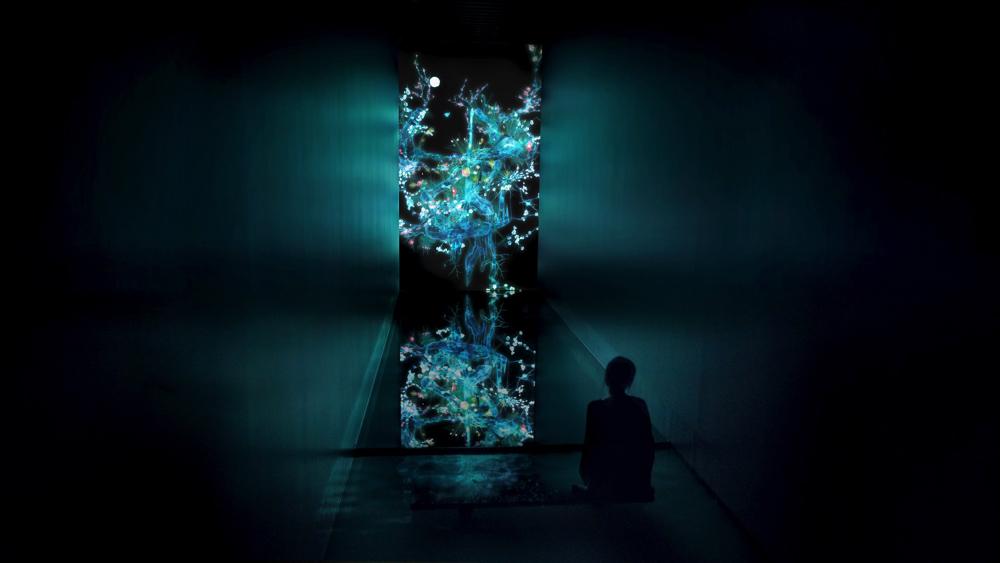 Cold Life  teamLab, 2014, Digital Work, 7 min 15 sec. (loop), Calligraphy: Sisyu