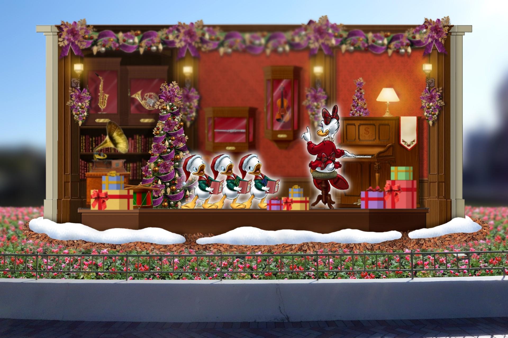 クリスマス・ファンタジー シンデレラ城前のプラザのフォトロケーション ※イメージ (C)Disney