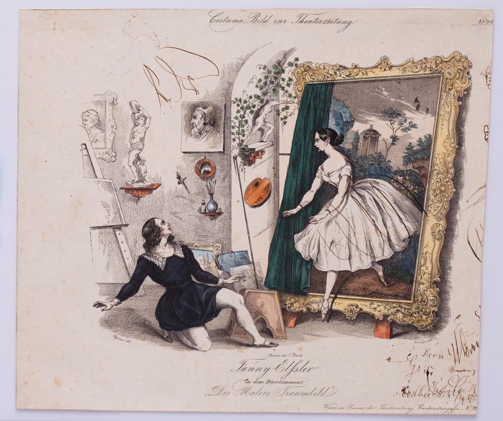 ファニー・エルスラー『画家の譫妄』1843頃