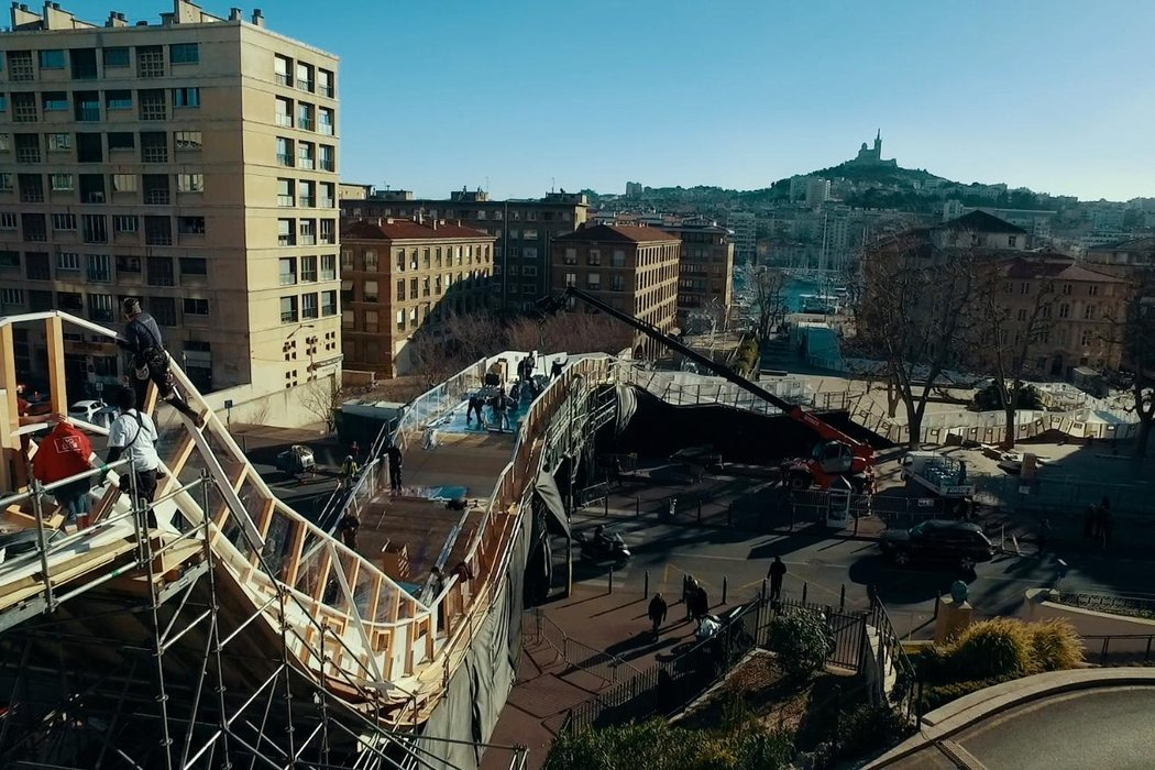 建設中のコースの様子 ©JC Pieri/Red Bull Content Pool