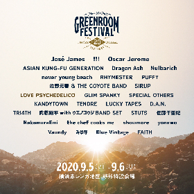 『GREENROOM FESTIVAL'20』5月11日よりチケットを再販売 LOVE PSYCHEDELICOの出演も正式決定
