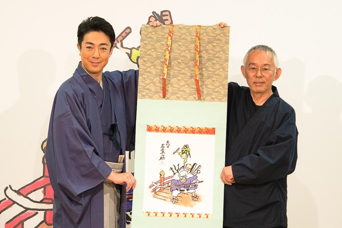左から、歌舞伎俳優・尾上菊之助、スタジオジブリプロデューサー鈴木敏夫氏
