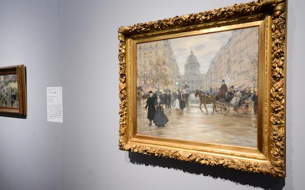 ジャン=フランソワ・ラファエリ《サン=ミシェル大通り》1890年代  (C)The Pushkin State Museum of Fine Arts, Moscow.