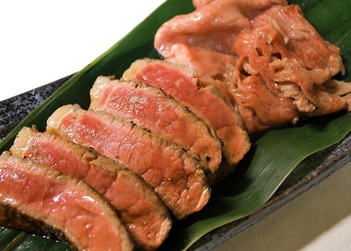 肉処 天穂「A4・A5熟成佐賀牛 厚切りステーキ&焼きしゃぶ」
