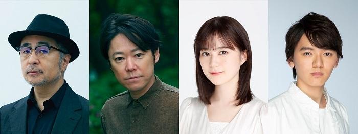 (左から)松尾スズキ 、阿部サダヲ 、生田絵梨花、濱田龍臣