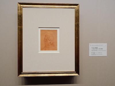 レオナルド・ダ・ヴィンチと弟子(チェーザレ・ダ・セスト?)《少女の頭部/〈糸巻きの聖母〉の主題の翻案》 1500〜1510年頃 トリノ王立図書館