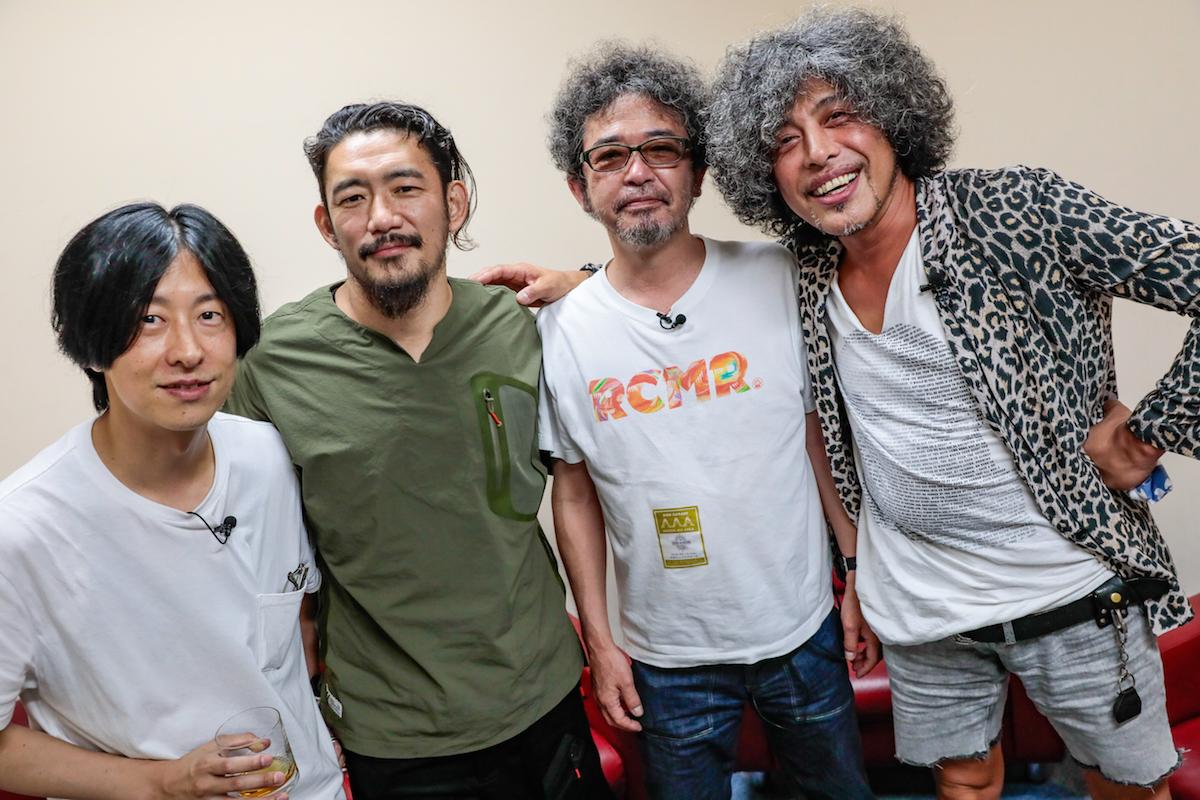 ホリエアツシ / TOSHI-LOW / 奥田民生 / 佐藤タイジ 撮影=柴田恵理