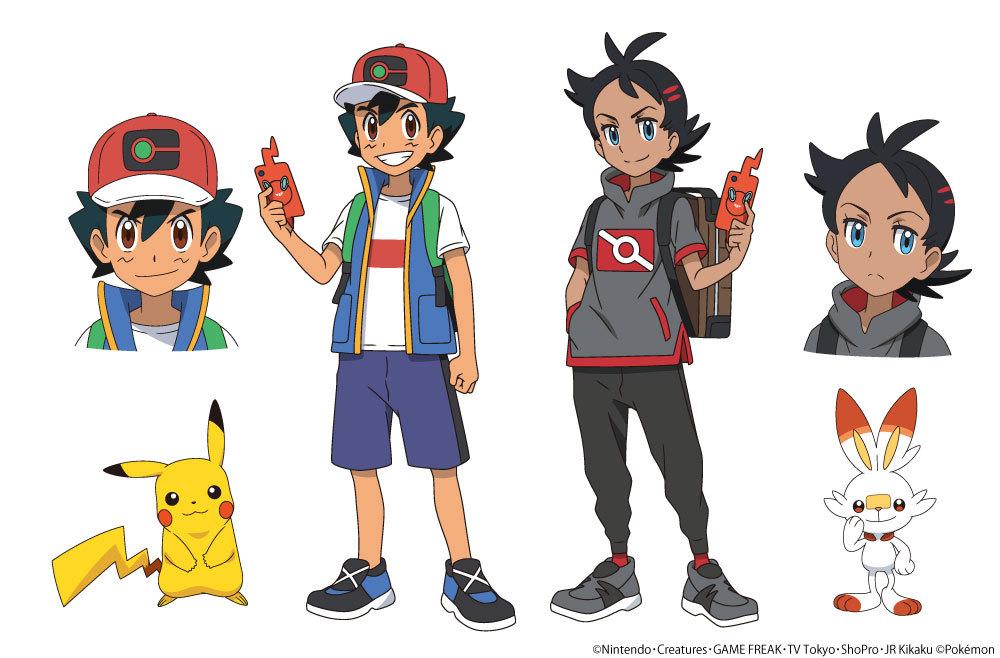 左から、サトシとピカチュウ、ゴウとヒバニー (C)Nintendo・Creatures・GAME FREAK・TV Tokyo・ShoPro・JR Kikaku(C)Pokémon