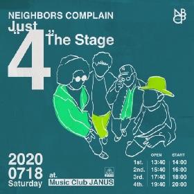 "NEIGHBORS COMPLAIN、心斎橋JANUSにて有観客""4""セットライブ『NBCP Presents [Just ""4"" The Stage]』開催決定"