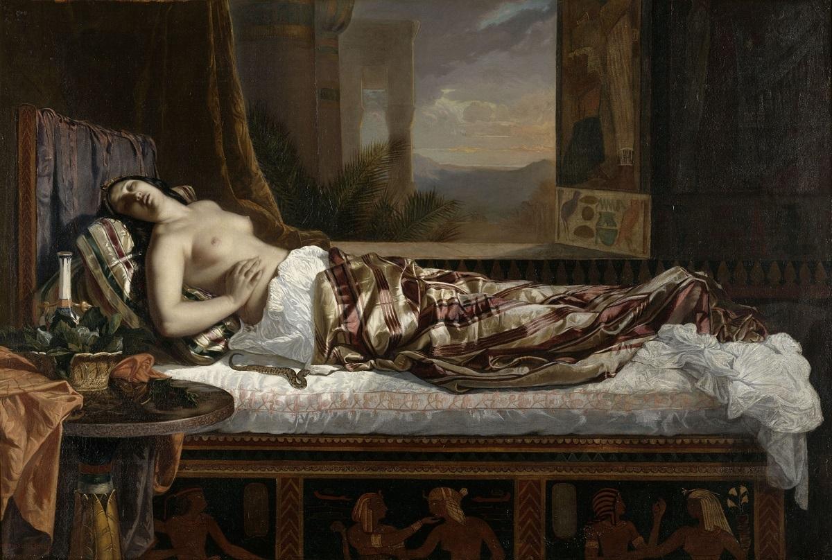 ゲルマン・フォン・ボーン 《クレオパトラの死》 1841年 油彩・カンヴァス ナント美術館蔵 RMN-Grand Palais / Gérard Blot / distributed by AMF