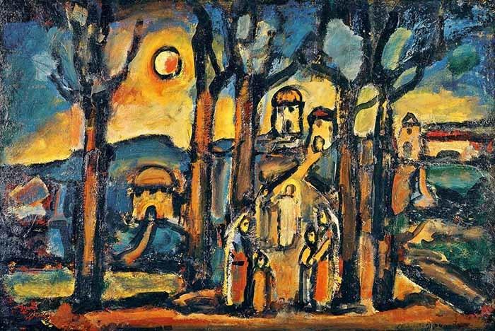 《秋 または ナザレット》1948年油彩ヴァチカン美術館蔵 Photo © Governatorato S.C.V. - Direzione dei Musei