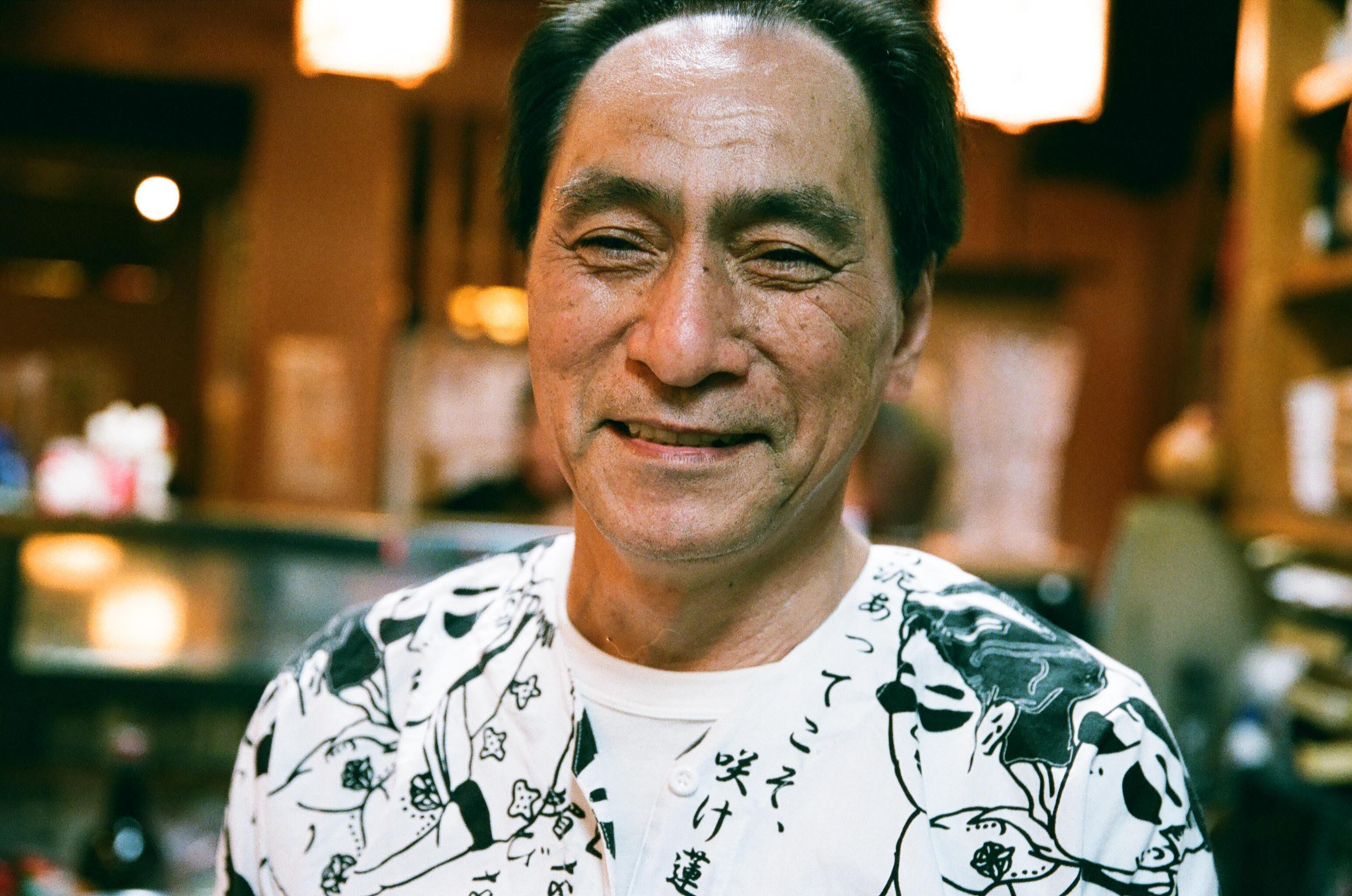 大阪の居酒屋のマスター