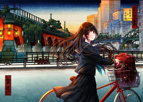 和遥キナ『江戸百景-秋葉原の万世橋-』 (C)和遥キナ