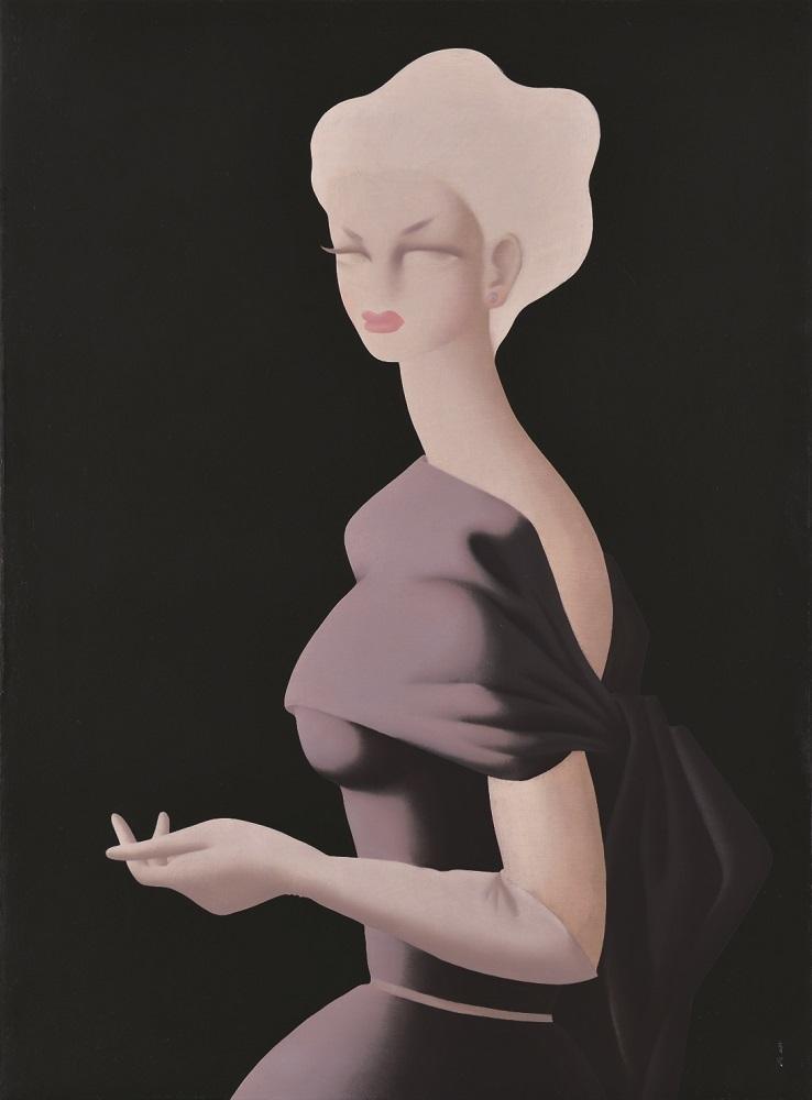 《バイオレット》 、1952年、油彩・キャンヴァス、108.4×80.0cm、損保ジャパン日本興亜