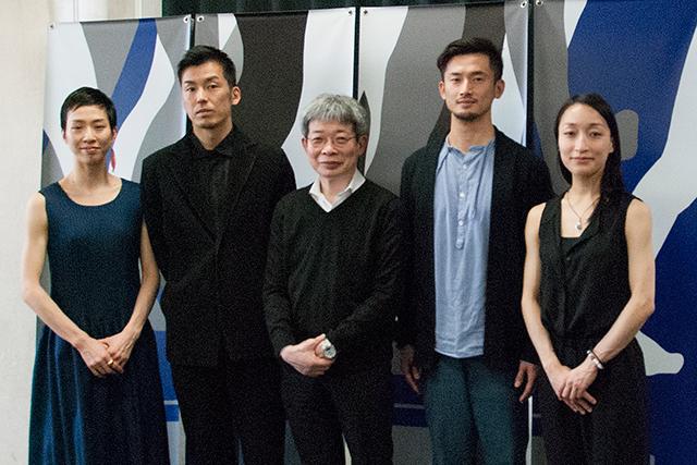記者会見から 左より井関佐和子、金森 穣、平田オリザ、中川 賢、石原悠子 (Photo:H.Yamada/Tokyo MDE)