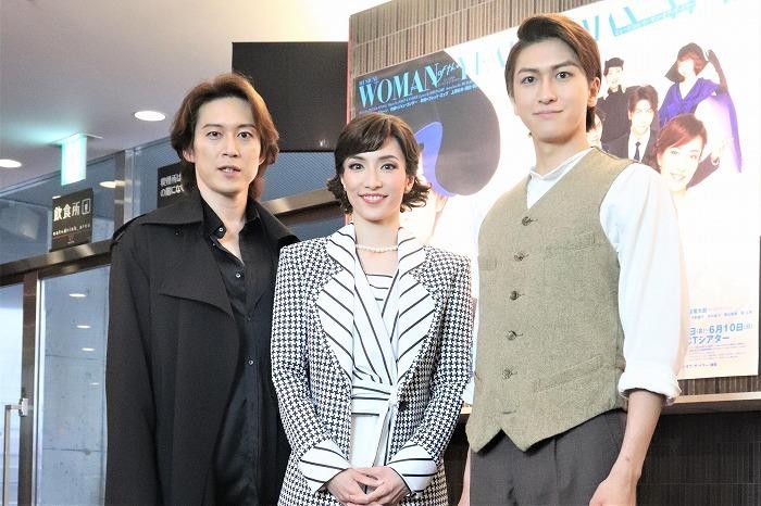 (左から)宮尾俊太郎、早霧せいな、相葉裕樹
