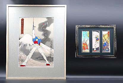 日本の伝統工芸×キャラクターシリーズ第二弾『浮世絵&千社札×機動戦士ガンダム』が販売開始 激シブの技法で名シーンを表現