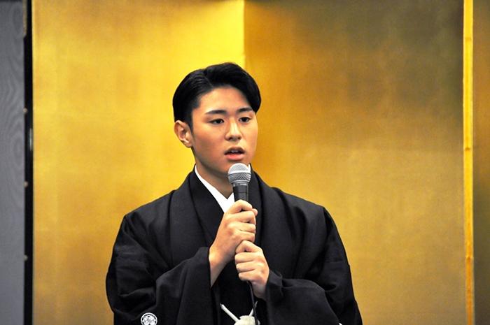 11月に歌舞伎座で勤めた『芝翫奴』に触れ「お客様が僕しか観てない状況で踊れるのが嬉しかった」と語る歌之助。