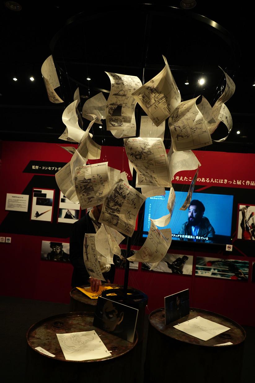 『メガロボクス』コーナーの展示では絵コンテが舞う!