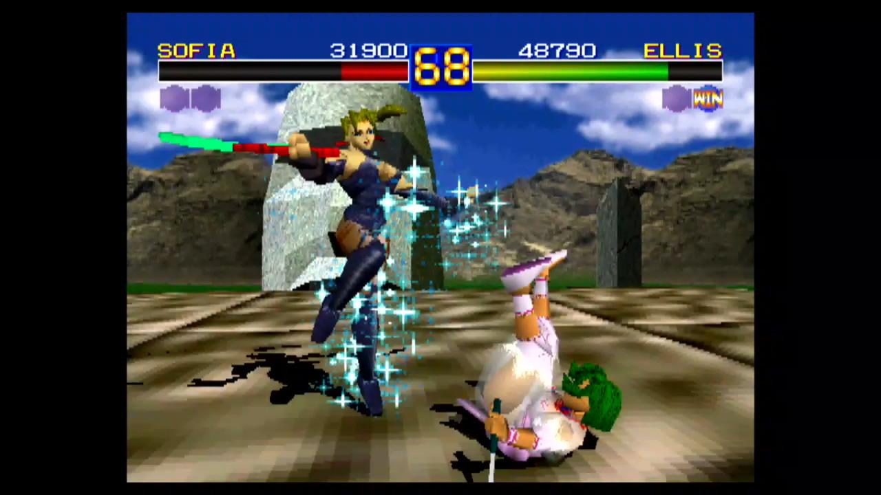 『闘神伝』ゲーム画面 (C)TAKARA CO.,LTD.1995.