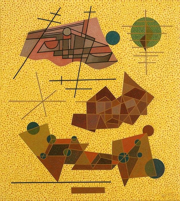 オットー・ネーベル 《明るい黄色の出来事》 1937年、油彩・キャンヴァス、オットー・ネーベル財団