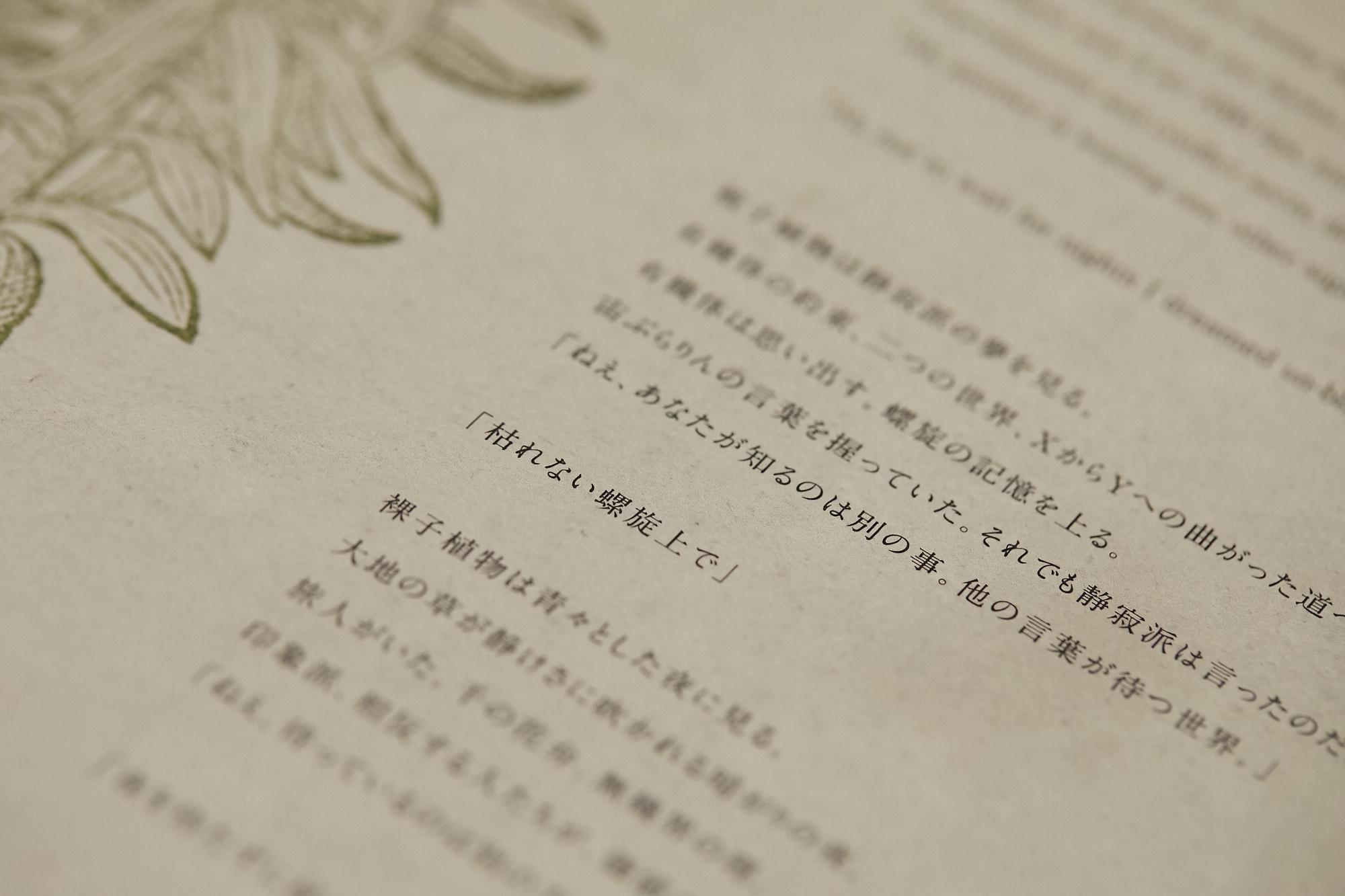 ミュージカル「マリーゴールド」パンフレットより/歌詞はすべて英語詞があてられているという(撮影:iwa)
