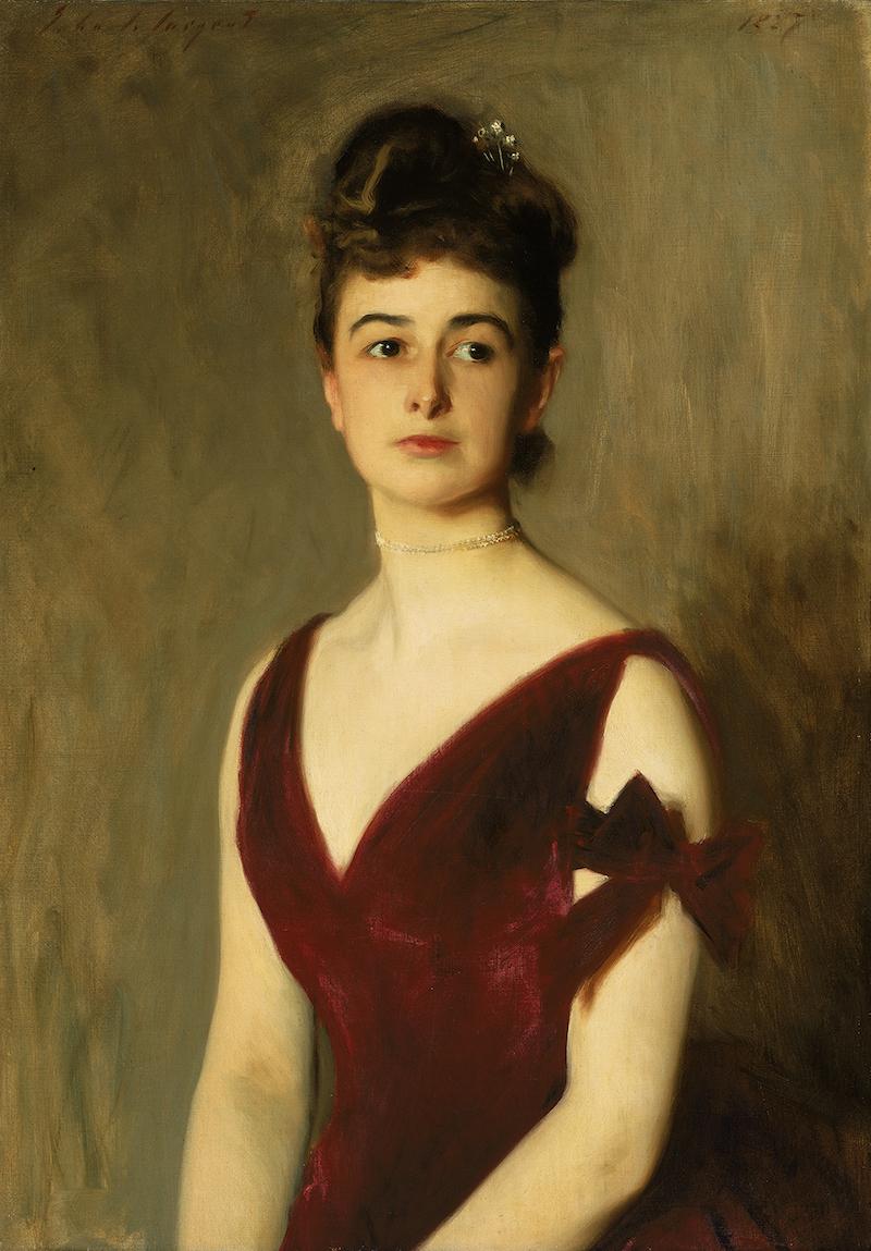 ジョン・シンガー・サージェント《チャールズ・E. インチズ夫人(ルイーズ・ポメロイ)》 1887年 Anonymous gift in memory of Mrs. Charles Inches' daughter,  Louise Brimmer Inches Seton 1991.926