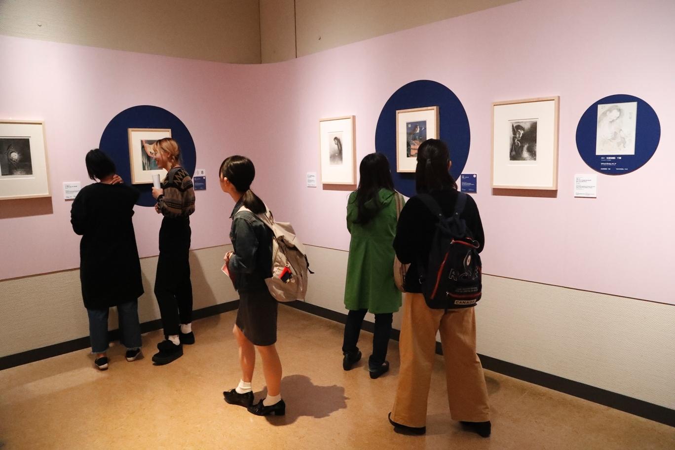 2017年「キヤノン・ミュージアム・キャンパス」の様子(国立西洋美術館「北斎とジャポニスム」展にて開催)