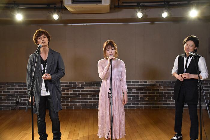 (左から)加藤和樹、大原櫻子、中川晃教