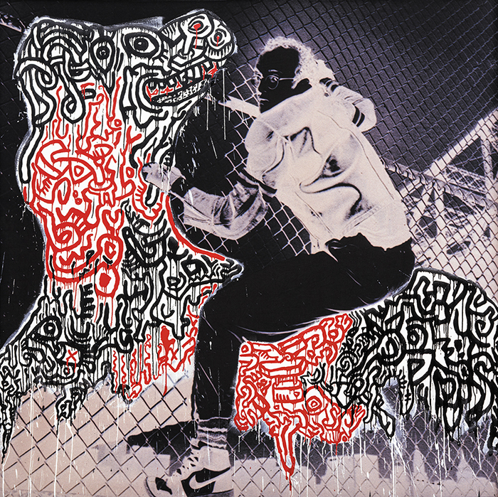 Untitled (Self-Portrait), 1988,  All Keith Haring Artwork (C) Keith Haring Foundation  Courtesy of Nakamura Keith Haring Collection.