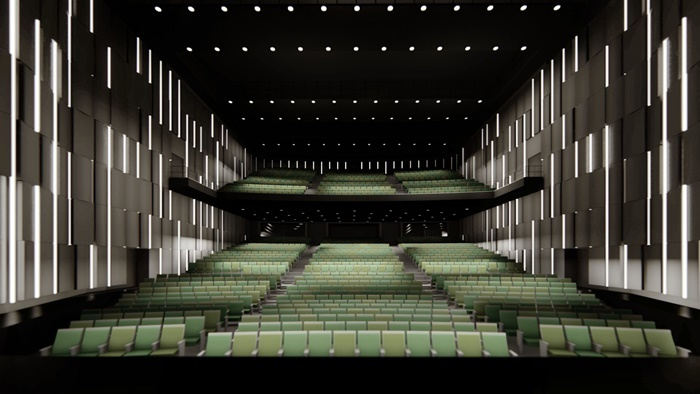 「梅田3丁目計画(仮称)」 劇場客席イメージ。※変更になる場合があります。