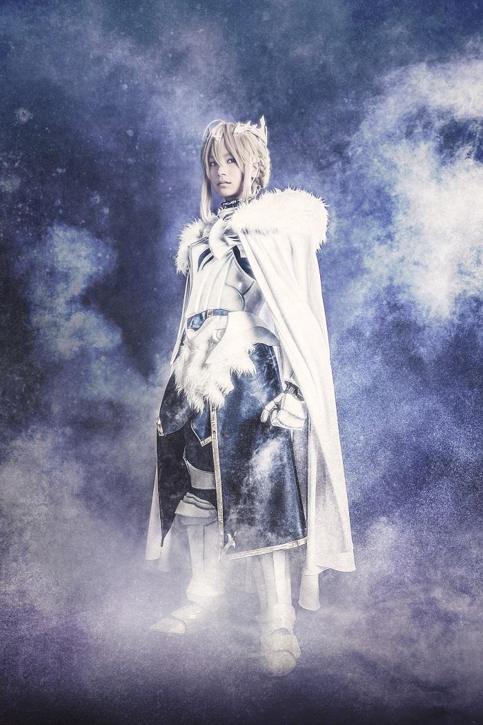 アルトリア・ペンドラゴン役の高橋ユウ (c)TYPE-MOON/FGO STAGE PROJECT