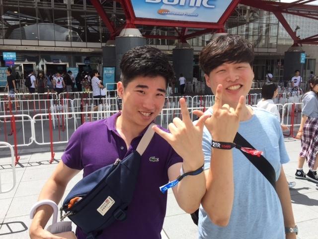 韓国から来場の二人 at SUMMER SONIC 2016